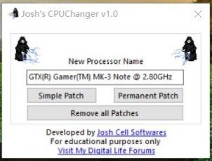 电脑CPU名称本地修改工具